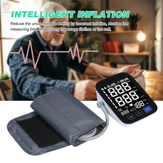 ET U82NH Automatic Upper-arm Blood Pressure Monitor Digital Blood Pressure Meter with Large Cuff Fits 8.7-inch to 16.5-inch Upper-arm Support 2×90 Sets of Data Record Irregular Heart Beat Pulse Machine BP Meter for Medical Household Use
