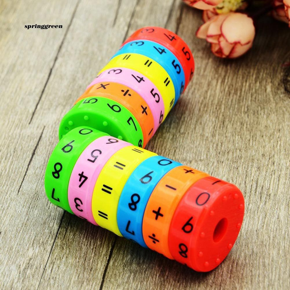 SPR♥Axis Magnetic Mathematics Arithmetic Learning Kids Puzzle Educational Cube Toys