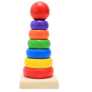 Đồ chơi giáo dục tháp chồng vòng tròn