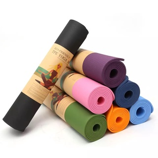Thảm Tập Yoga Chống Trượt 2 Lớp Dày 6mm Chất Liệu Cao Su Non TPE Cao Cấp YOGA CAT thumbnail