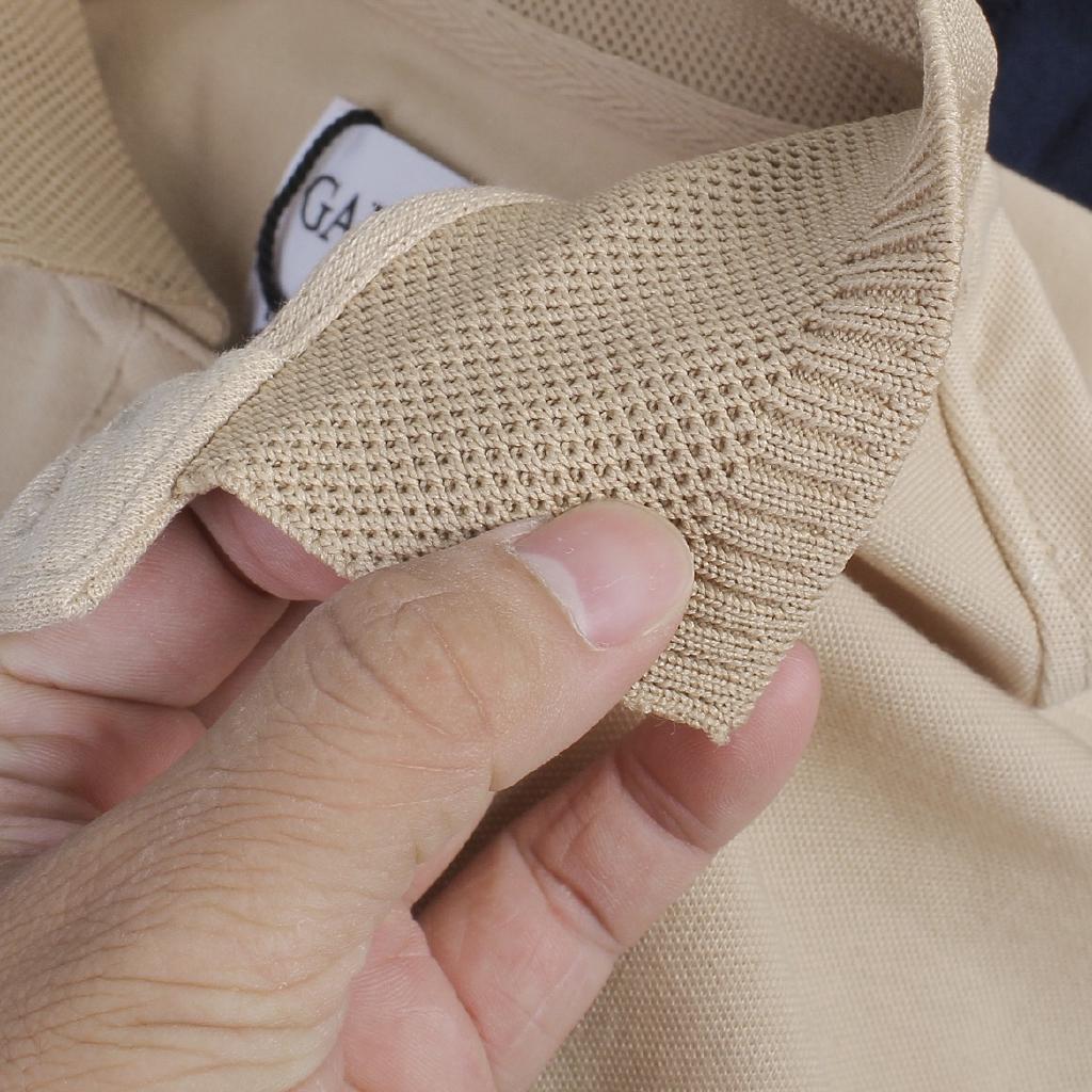 Áo polo nam Galvin cổ dệt bo len,áo thun nam có cổ tay lỡ công sở 25- Leo Vatino