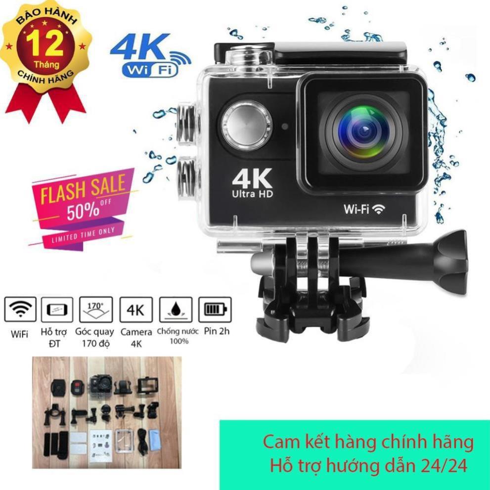 Camera hành trình chống nước WIFI 4K ULTRA HD 4k có remote chính hãng  465,000đ