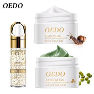 Mặt nạ đậu xanh OEDO cải thiện lão hóa + Kem dưỡng ẩm da chiết xuất ốc sên + Huyết thanh cấp ẩm thu nhỏ lỗ chân lông