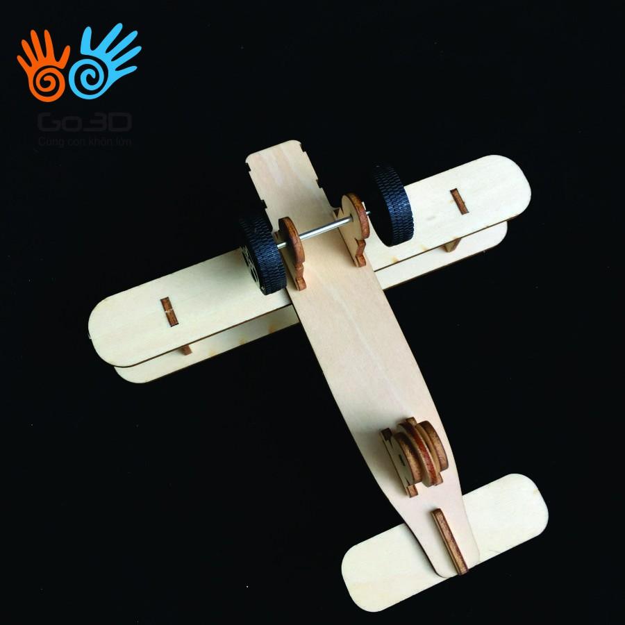 Đồ chơi Stem lắp ghép bằng gỗ-Máy bay chiến đấu 2
