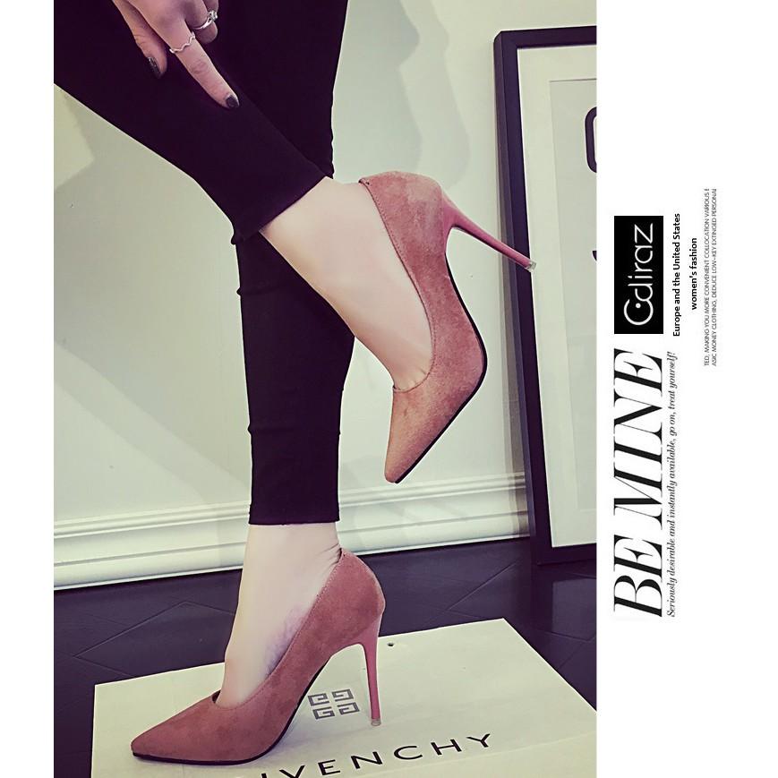 Giày cao gót nữ da lộn 10cm sang trọng và đẳng cấp- Màu hồng - 3275554 , 509908998 , 322_509908998 , 215000 , Giay-cao-got-nu-da-lon-10cm-sang-trong-va-dang-cap-Mau-hong-322_509908998 , shopee.vn , Giày cao gót nữ da lộn 10cm sang trọng và đẳng cấp- Màu hồng