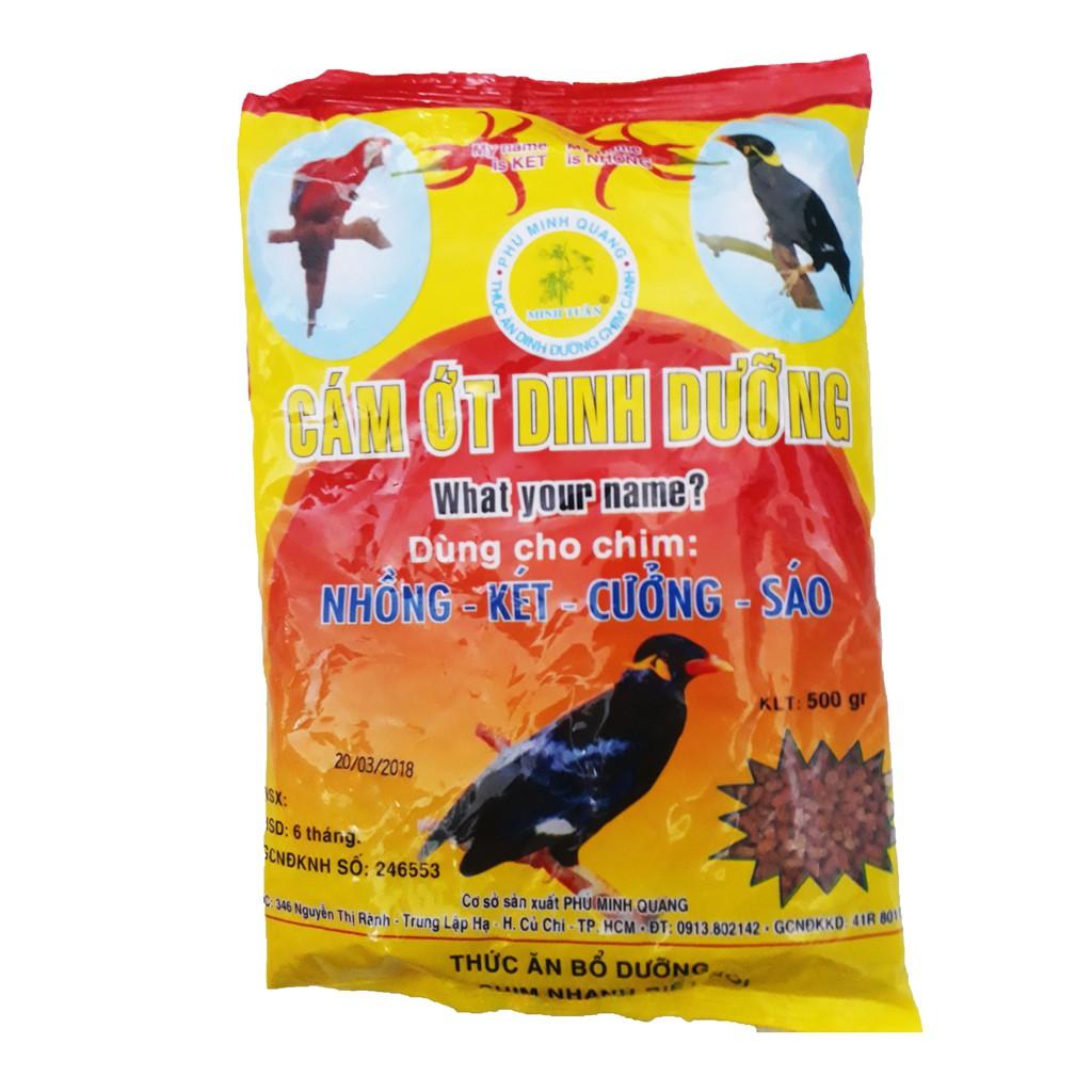 Cám Ớt Minh Tuân 500g - Thức Ăn Chim Nhồng, Két, Cưỡng, Sáo [CÁM ỚT MINH TUÂN]