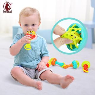 Baby Rattles Develop Intelligence Grasping Gums Hand Bell Rattle Funny Educational Toys Gifts