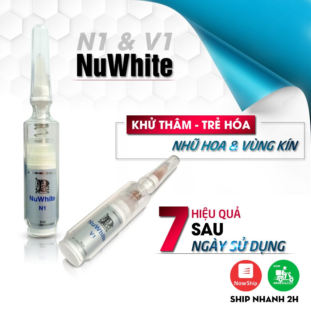 [Kem Làm Hồng Nhũ Hoa] NUWHITE N1(5ml) - Cam kết hiệu quả Sau 7 Ngày - Hàng Nội Địa USA -Combo 2 Tuýp V1 giá rẻ