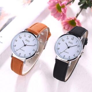 (Giá sỉ) Đồng hồ thời tranh nữ DZG dây da nhung tuyệt đẹp