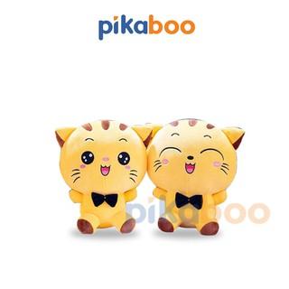Mèo cười vàng bông cao cấp Pikaboo. Gấu bông, thú nhồi bông- Chất liệu nhung Mềm - Mịn - An toàn. thumbnail