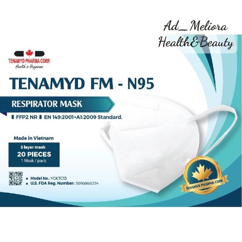 Khẩu Trang N95 Tenamyd N95 - Khẩu trang kháng khuẩn 5 lớp - Chứng nhận FDA