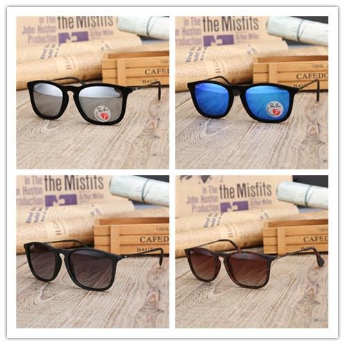 RB แว่นตากันแดดสำหรับผู้ชายและผู้หญิงรุ่นสี่เหลี่ยมเต็มกรอบแฟชั่นแว่นตากันแดดที่เรียบง่ายและสะดวกสบาย 0RB4187F