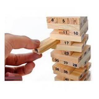 Trò chơi gỗ rút lớn hộp vàng