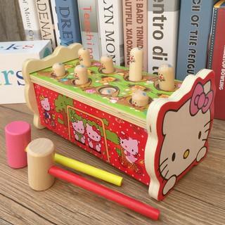 bộ đồ chơi đập chuột bằng gỗ thông minh cho bé
