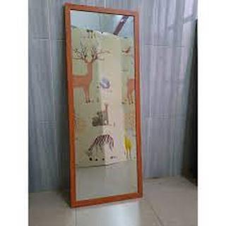 Gương soi toàn thân decor kích thước 40 x 110 cm (Khung nhôm cao cấp màu vân gổ)