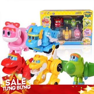 Bộ 5 con biệt đội khủng long biến hình Gogo Dino