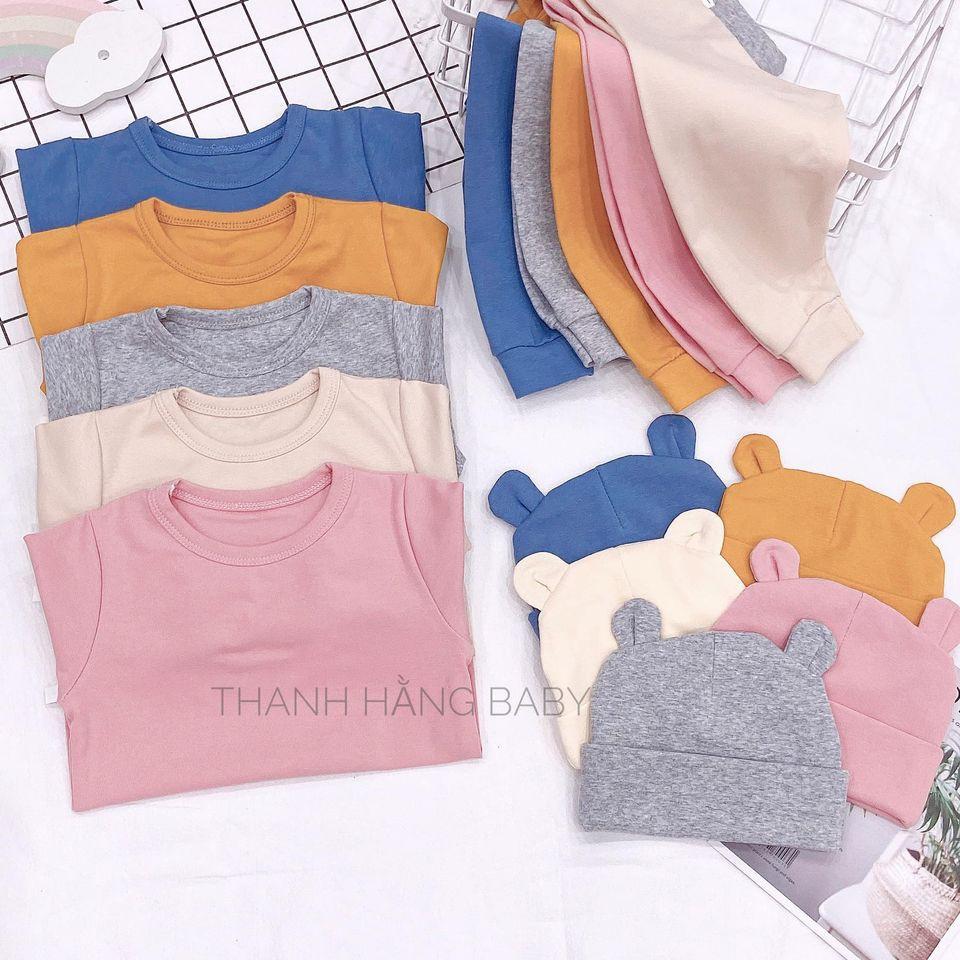 Bộ Cotton Nỉ Hàn Tay Dài Cho Bé Yêu Thanh Hằng Baby Từ 7 - 17 Kg