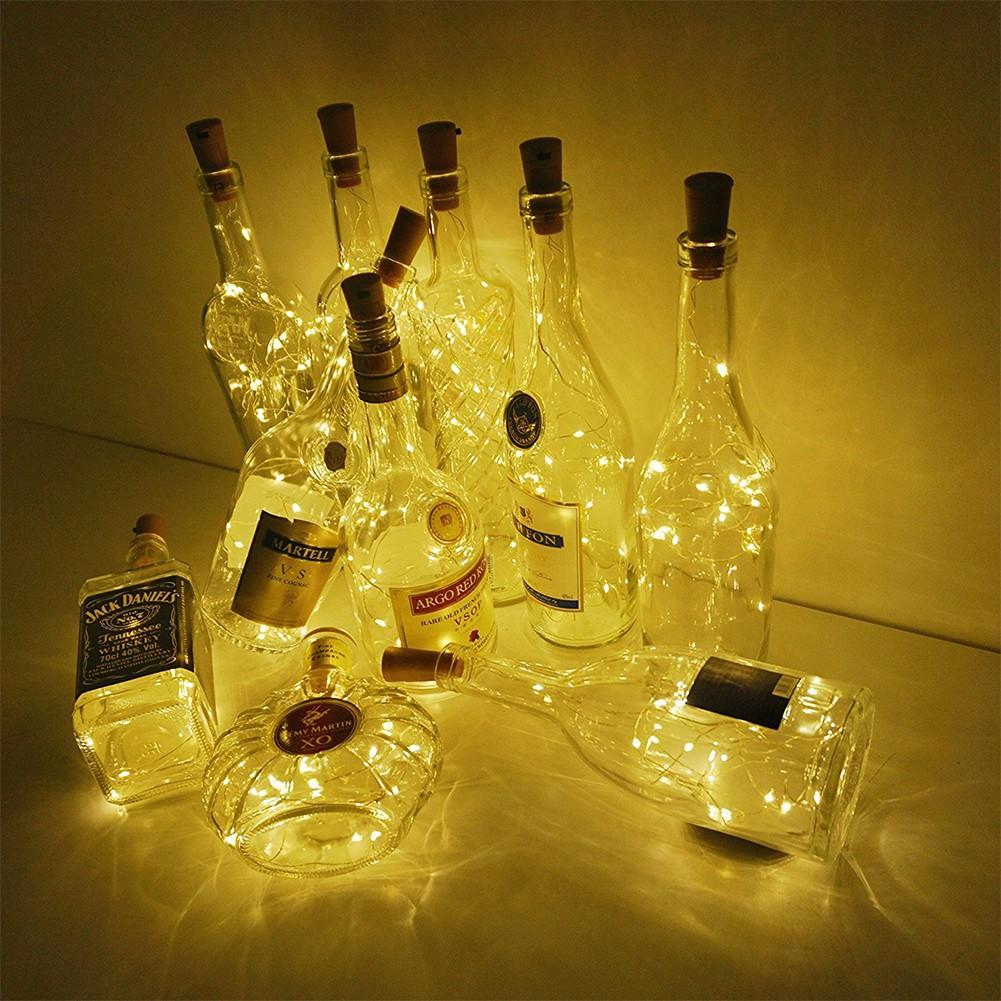 Dây Đèn Led Trang Trí 2m 20 Bóng Hình Nút Bần Chai Rượu chính hãng 16,500đ
