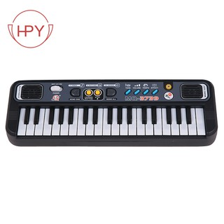 Piano With Microphone Abs Children Portable 37 Keys Digital Music