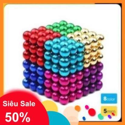 Bộ đồ chơi bucky ball 216 viên nam châm phi 5mm màu sắc, tạo hình chuyên nghiệp, rèn luyện trí não cho trẻ nhỏ