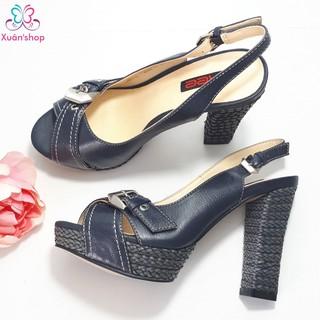 Sandal cao gót hãng AEE đế đúp, gót trụ thon cao 11.5cm (CÓ SẴN)