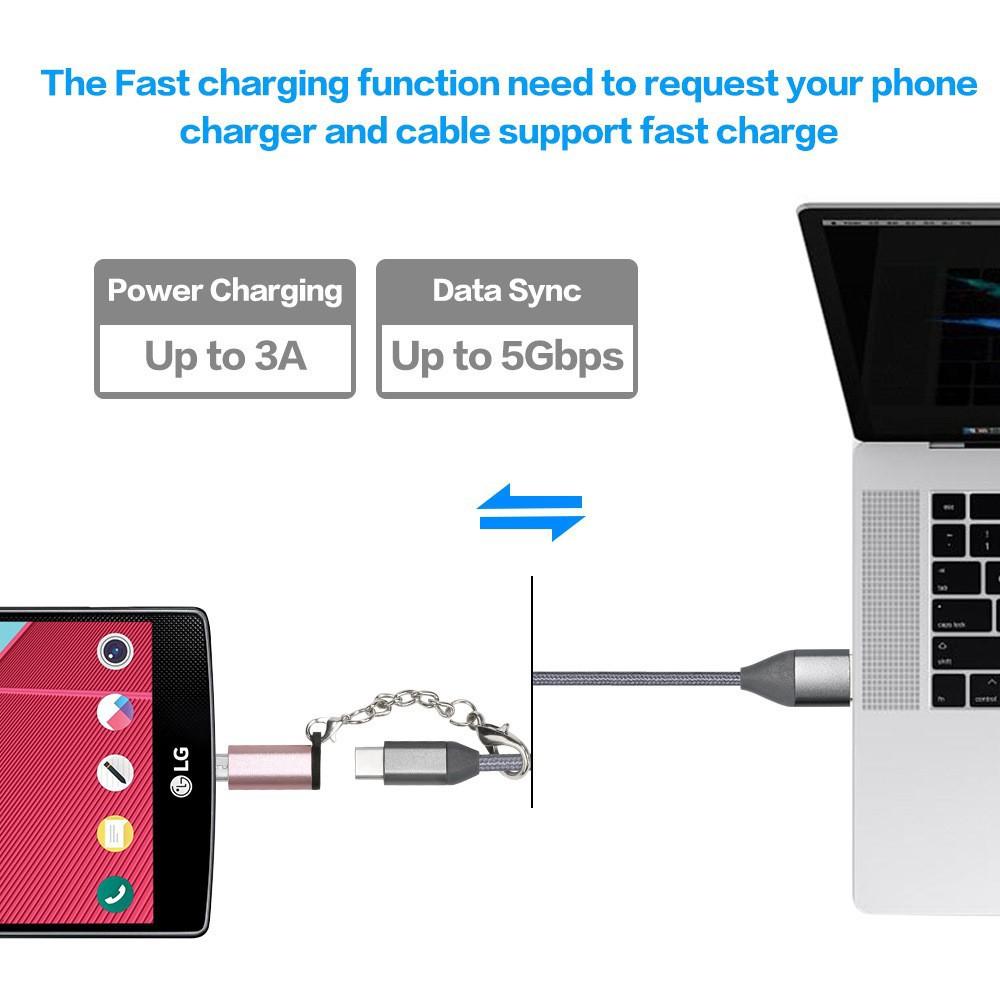 Bộ chuyển đổi Micro USB 2.0 Type B sang USB 3.1 Type C