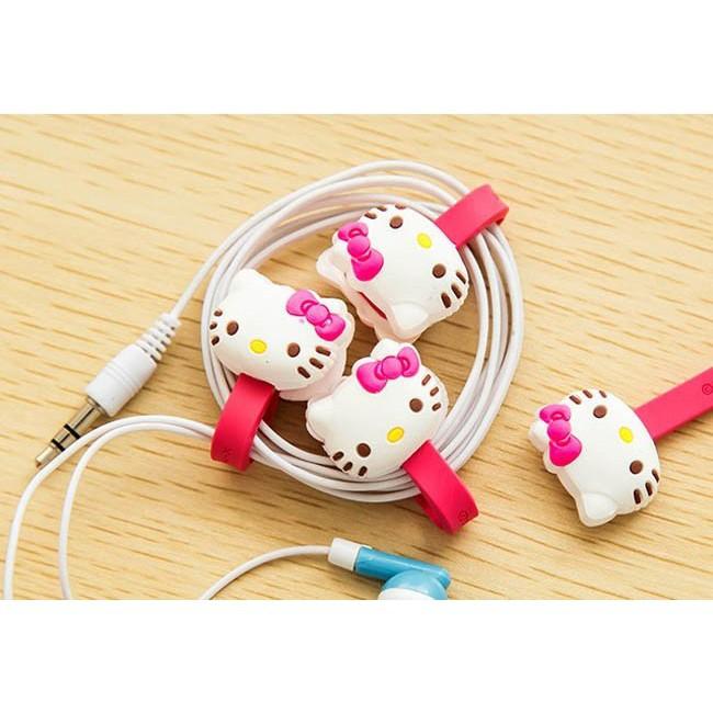 Combo 2 dụng cụ thu gọn dây điện bấm nút hình thú đáng yêu