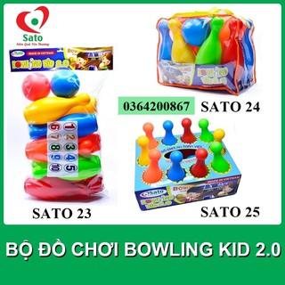 Đồ Chơi BOWLING KID 2.0 SATO cỡ đại cho bé (10 con ky 27cm+2 bóng 10cm)