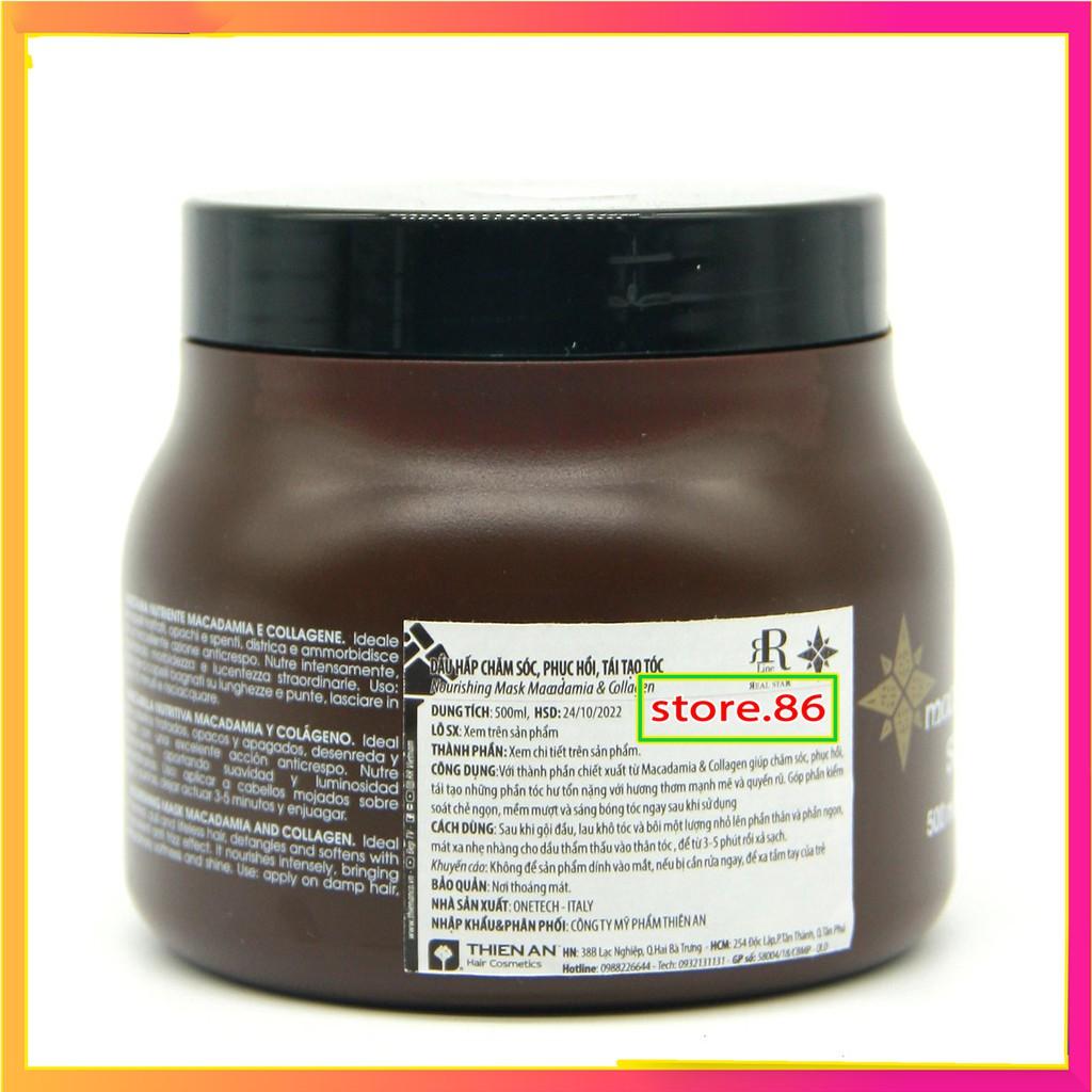 Ủ tóc collagen hấp phục hồi tóc kem hấp hấp tóc MACADAMIA STAR hũ  500ml – 1000ml hàng chính hãng