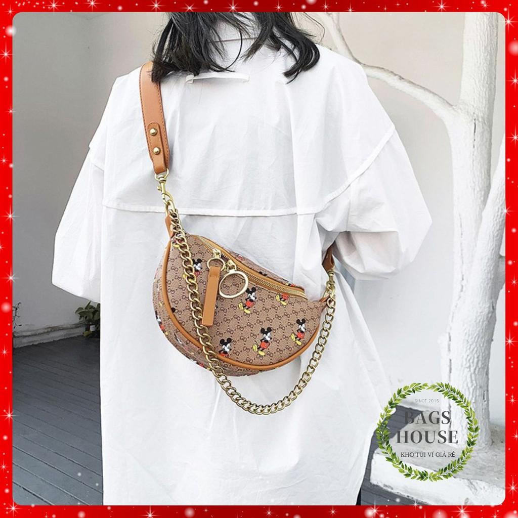 Túi bao tử chuột Mickey túi đeo ngực nữ thời trang có thể đeo chéo đeo vai SAWA hottrend hàng đẹp DBUNGMIC