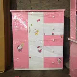 Tủ quần áo trẻ em làm bằng nhựa cao cấp 2 cánh mở 5 ngăn kéo
