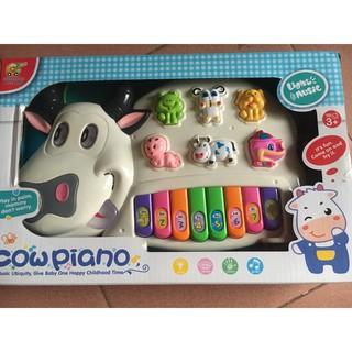 Đồ chơi đàn piano hình chú bò cho bé