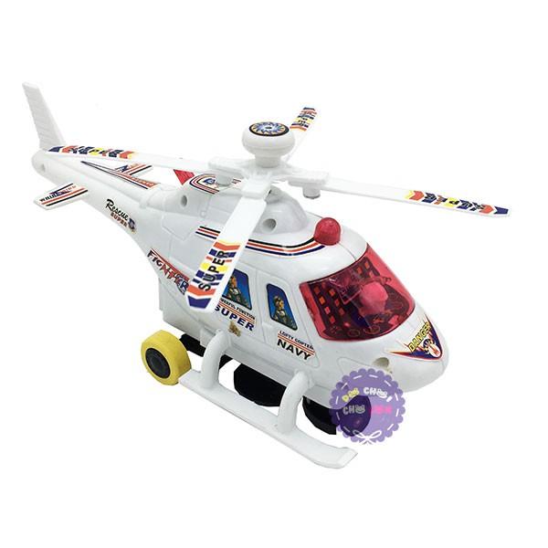 Hộp đồ chơi máy bay trực thăng trắng chạy pin...