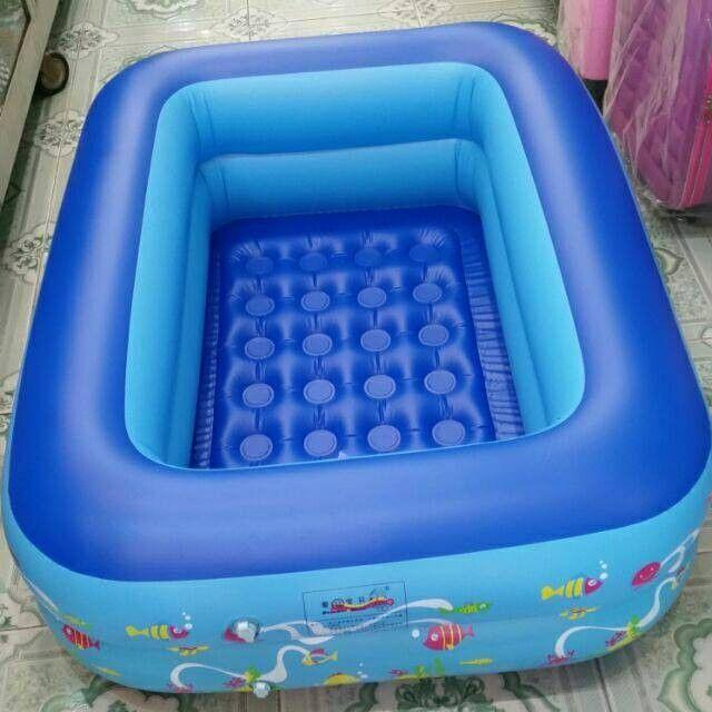 Bể bơi 1m2 2 tầng cho bé loại đẹp
