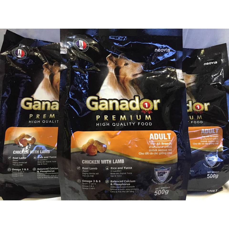 Combo 5 gói thức ăn cho chó trưởng thành Ganador Adult