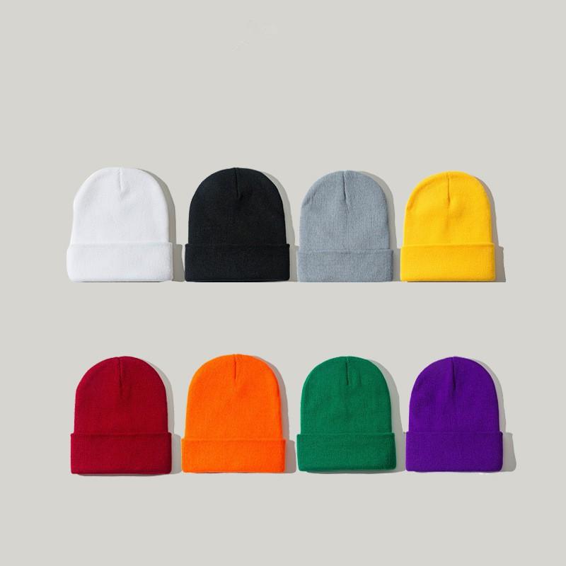 Mũ len trùm đầu màu trơn thời trang dành cho cả nam và nữ 28062