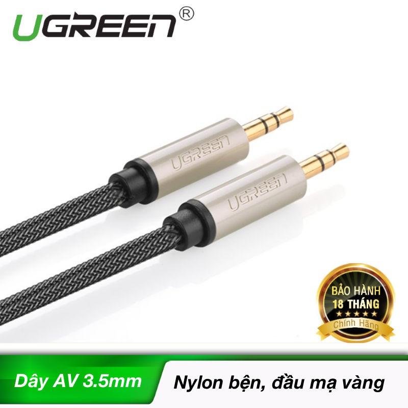 Cáp âm thanh Aux chuẩn 3.5mm mạ vàng 24K cao cấp dài chính hãng UGREEN AV125
