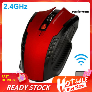Ergonomic 6 Keys 1600DPI 2.4GHz Wireless Gaming Mouse USB Receiver for PC Laptop /RXDN/