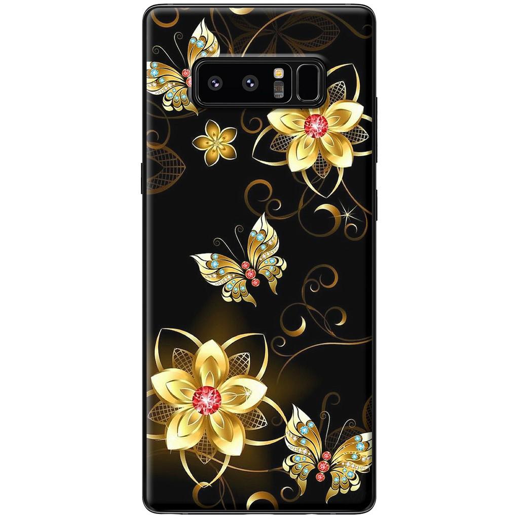 Ốp lưng Samsung Note 8 - Nhựa dẻo Hoa bướm vàng