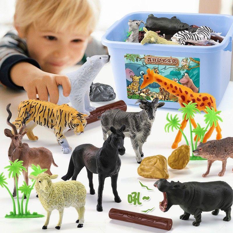 Mô hình các con vật nuôi và động vật trong rừng