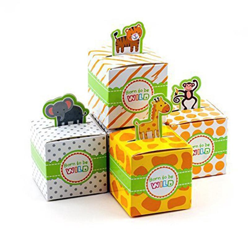 Candy Box Wild Adorable Jungle Safari Zoo Theme Baby Shower Party Festival decor