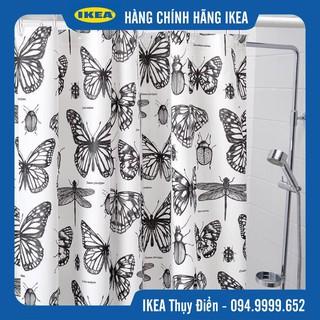 Rèm phòng tắm hình bướm IKEA