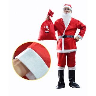 Set 6 phụ kiện quần áo ông già Noel (Nỉ)