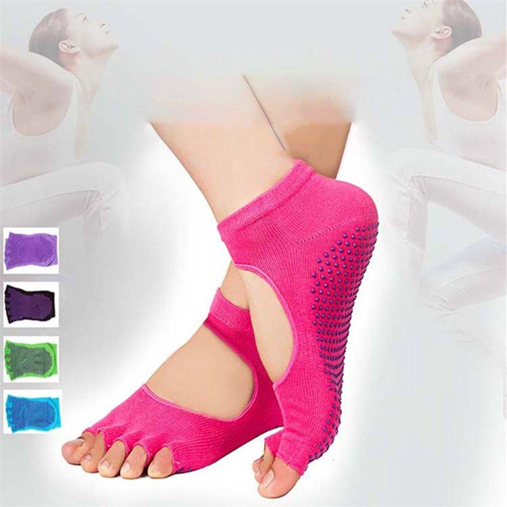 ●FY●Women Five-toe Yoga Gym Dance Sport Exercise Non-Slip Massage Fitness Sock
