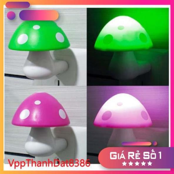 (Sale)  đèn ngủ cảm ứng hình cây nấm