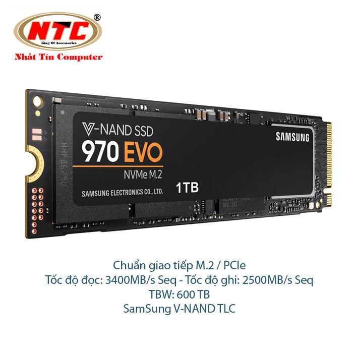 Ổ Cứng SSD Samsung 970 EVO M2 1TB - Chuẩn giao tiếp PCIe Gen 3×4 (đen) - 2511735 , 1228017983 , 322_1228017983 , 17000000 , O-Cung-SSD-Samsung-970-EVO-M2-1TB-Chuan-giao-tiep-PCIe-Gen-34-den-322_1228017983 , shopee.vn , Ổ Cứng SSD Samsung 970 EVO M2 1TB - Chuẩn giao tiếp PCIe Gen 3×4 (đen)