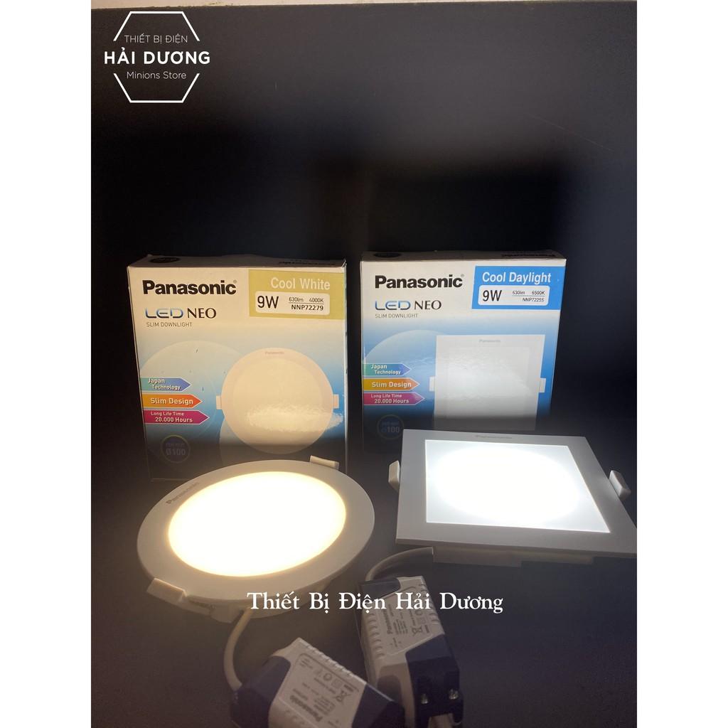 Combo Bộ 3 Đèn Led Downlight Âm Trần Panasonic 9w Tròn NNP72279 - Vuông NNP72255 Neo Slim - Hàng Chính Hãng Panasonic
