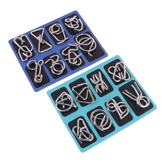 8Pcs Brain puzzles intelligence buckle lock toy for children adults traini