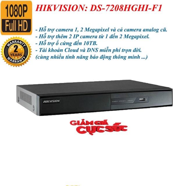 Đầu ghi hình Camera 8 kênh Hikvision DS-7208HGHI-F1/N