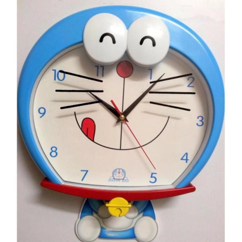 Đồng hồ treo tường Hình DOREMON MHT386 (Xanh dương)